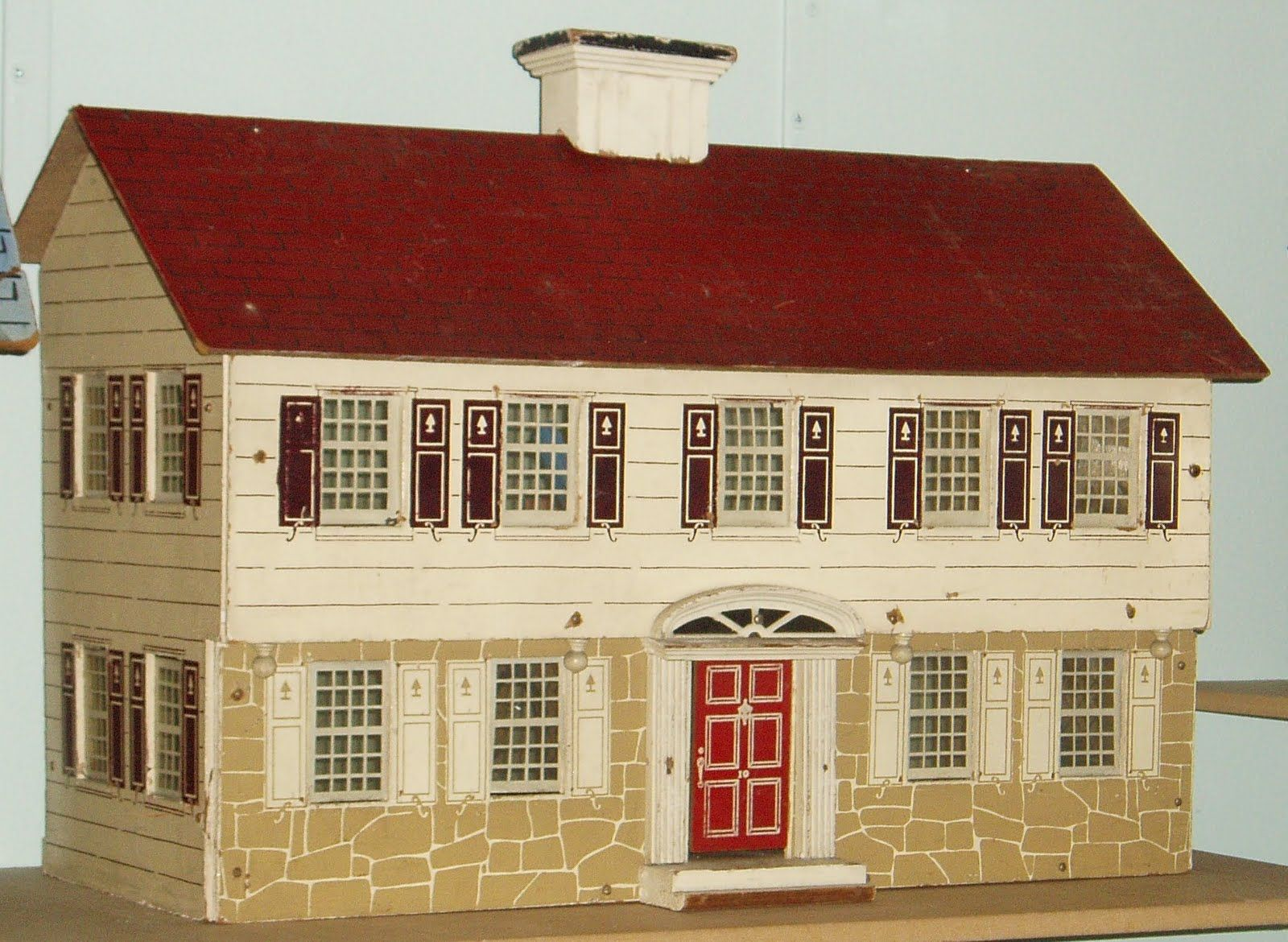 antique dollhouse | this is a keystone of boston dollhouse