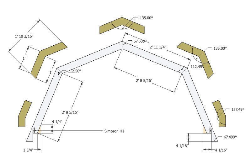 Micro Gambrel Truss Detail Gambrel Roof Gambrel Roof Truss Design