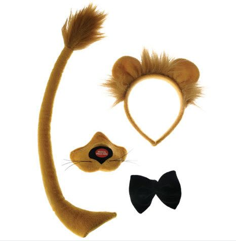 Lion Ears And Tail Set Lion King Faux Fur Instant Fancy Dress Animal Cat Simba