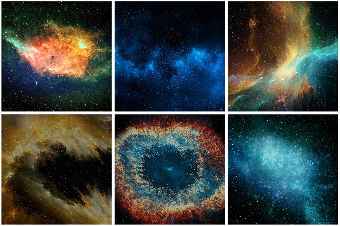 30 Space Nebula Galaxy Textures by Tory Design on @creativemarket
