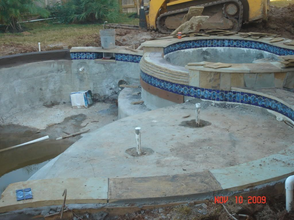 Beautiful waterline tile new pool build in sugar land tx sw houston buenas 244 on master for Swimming pool supplies houston