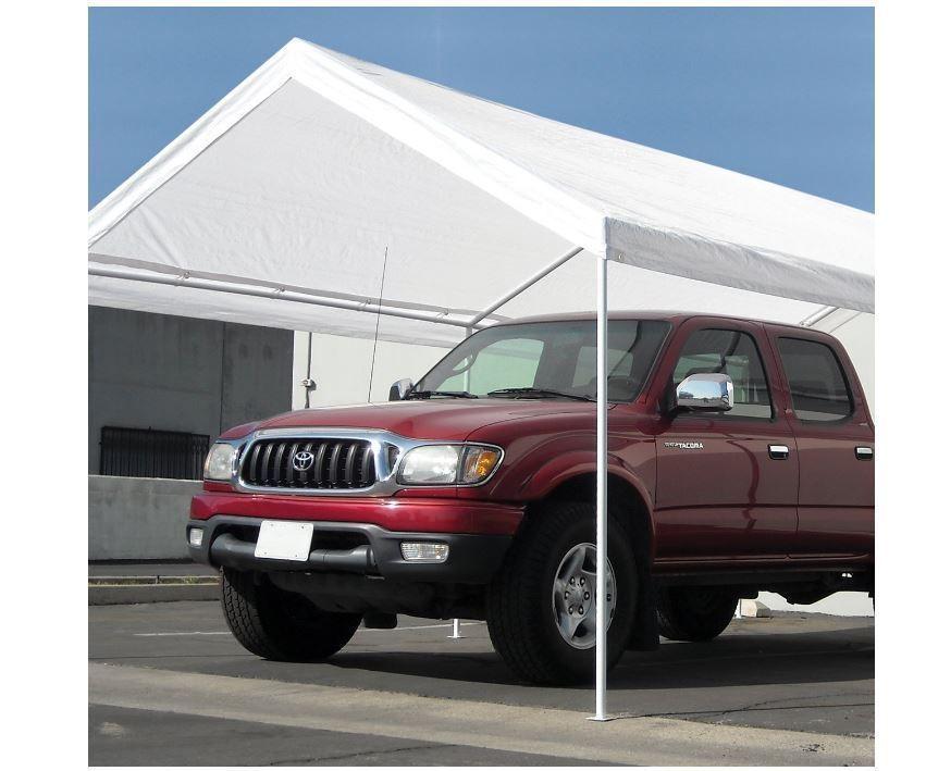 Carport Canopy Carports and Garages Steel Caravan 10 X 20-Feet Domain White & Carport Canopy Carports and Garages Steel Caravan 10 X 20-Feet ...