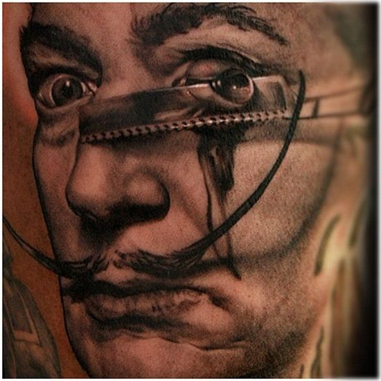 Razor Eye Salvador realistic tattoo