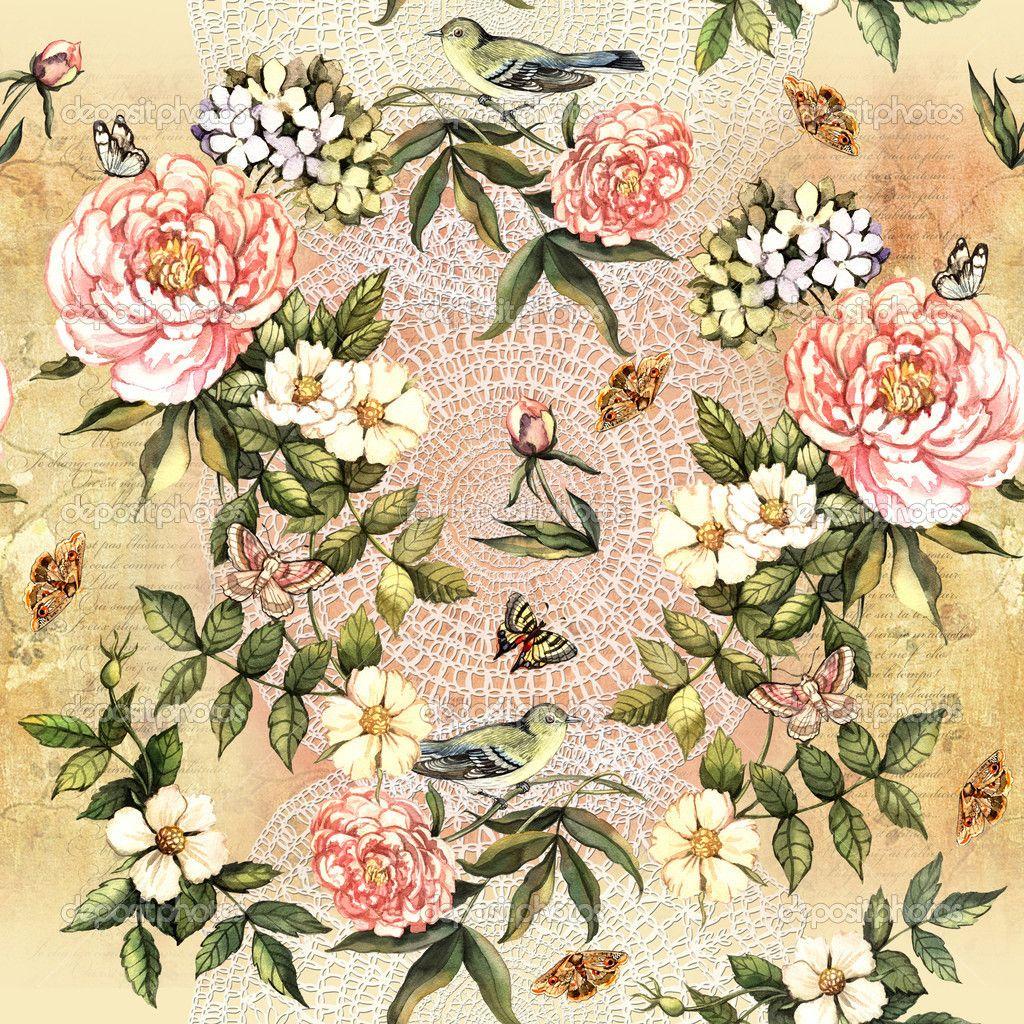 flores em aquarela — Imagem Stock #50167511