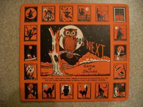 HOOS-NEXT-GAME-OF-STUNTS-Vintage-Halloween-Party-Game-Beistle