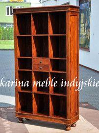 meble kolonialne - biblioteczka LD-427 brown