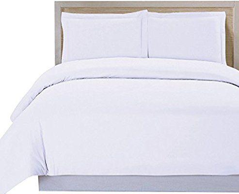 Best Amazon Com Utopia Bedding 3 Piece Duvet Cover Set Queen White Duvet Cover Plus 2 Pillow 400 x 300