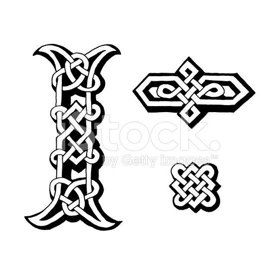 Ilustración de Celta Letra I Y Dingbats y más Vectores