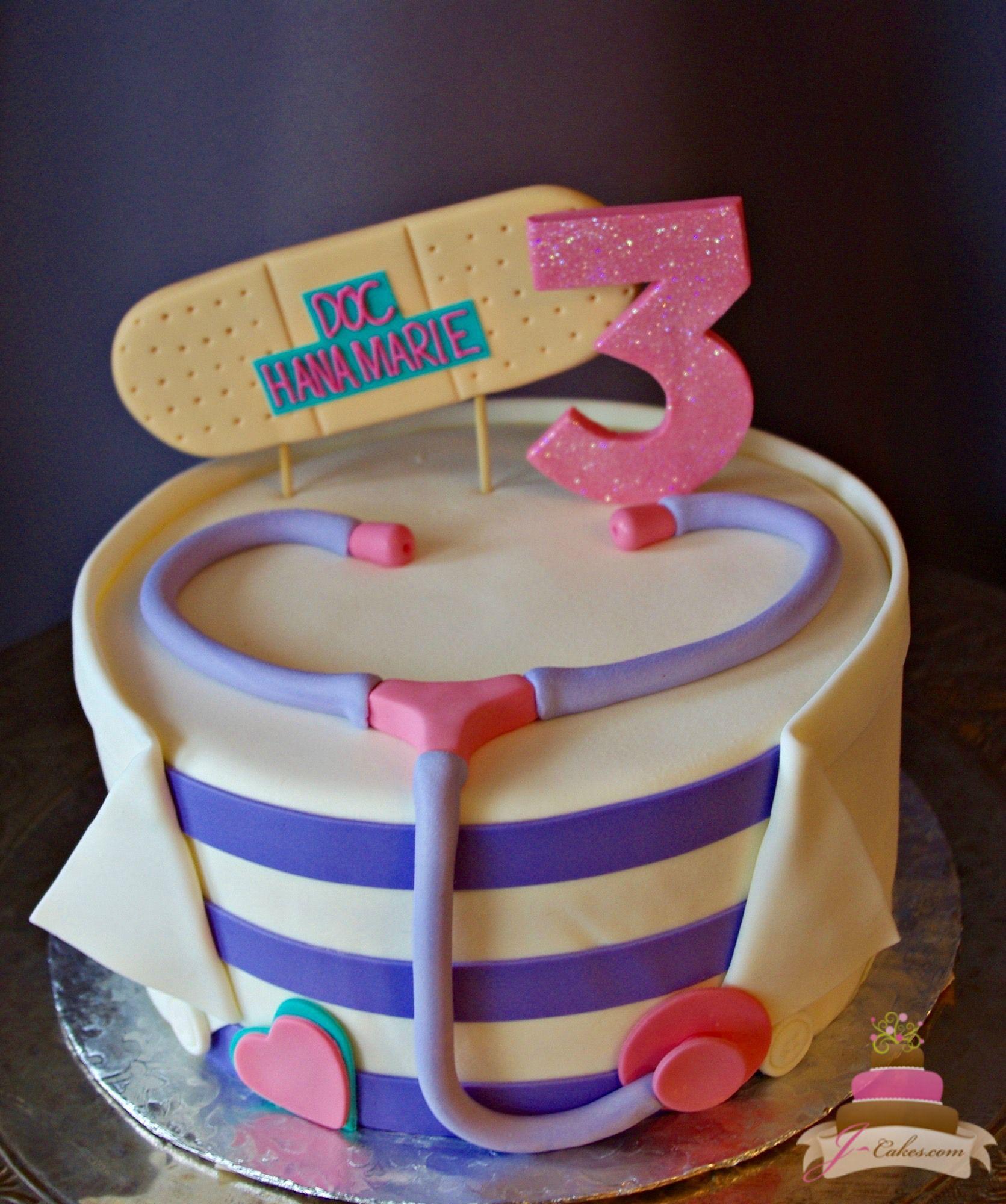 Sensational 523 Doc Mcstuffins Theme Cake Doc Mcstuffins Cake Doc Funny Birthday Cards Online Alyptdamsfinfo