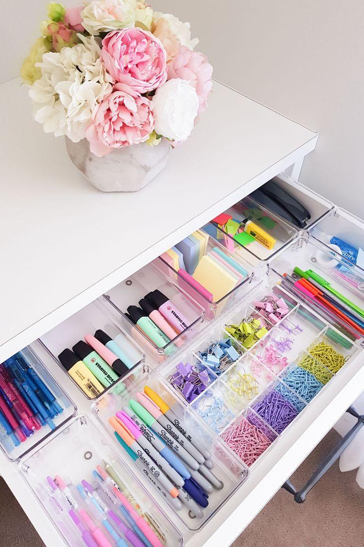 Craft closet organisation from great beginnings in 2020