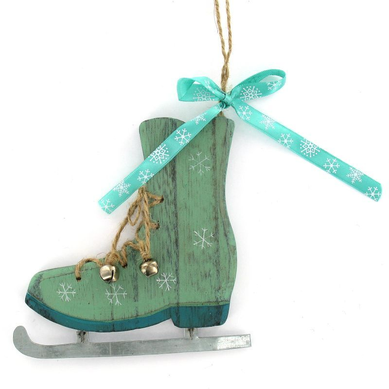 Hobbycraft Wooden Ice Skate Hanging Decoration Hobbycraft