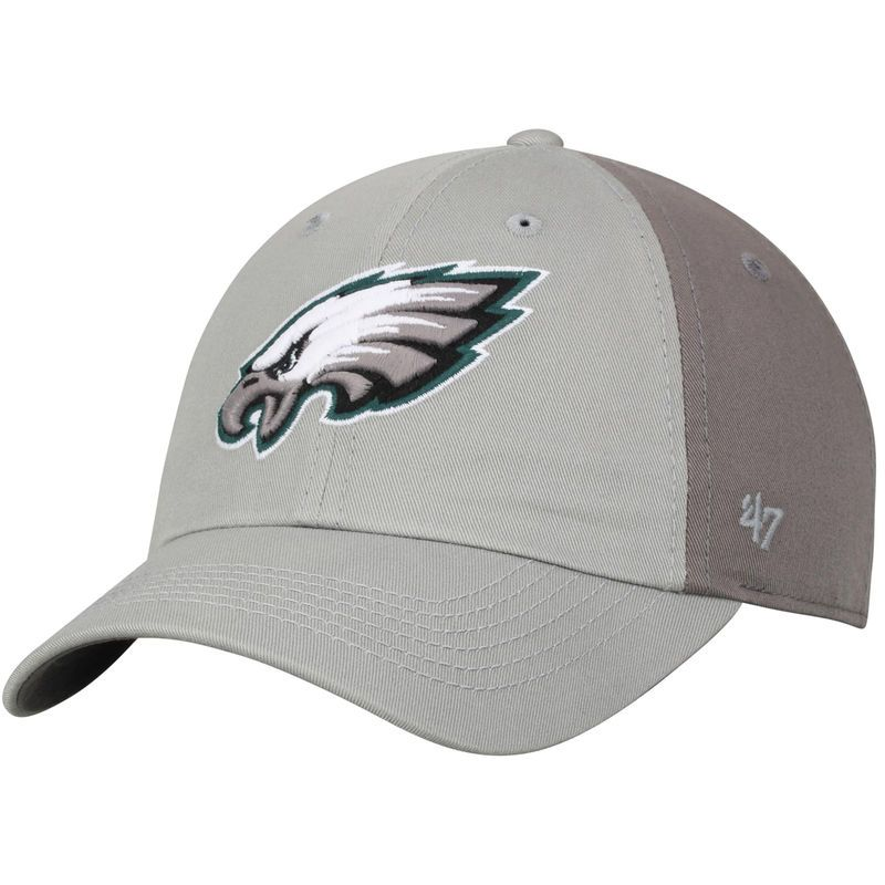 Philadelphia Eagles  47 Northside Clean Up Adjustable Hat - Gray Dark Gray f02af6eb1