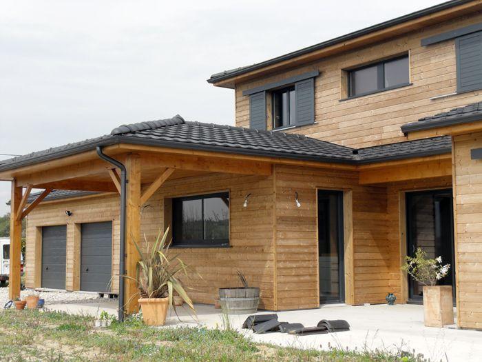R sultat de recherche d 39 images pour maison bois toit for Porche de maison en bois