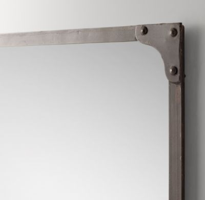 RH Baby & Child\'s Industrial Rivet Dresser Mirror:Riveted corner ...