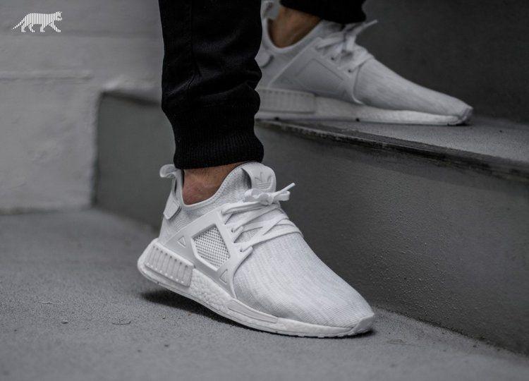 Restock Adidas Nmd Xr1 Primeknit Triple White Sneaker Shouts Skate Wear Urban Outfits White Sneaker