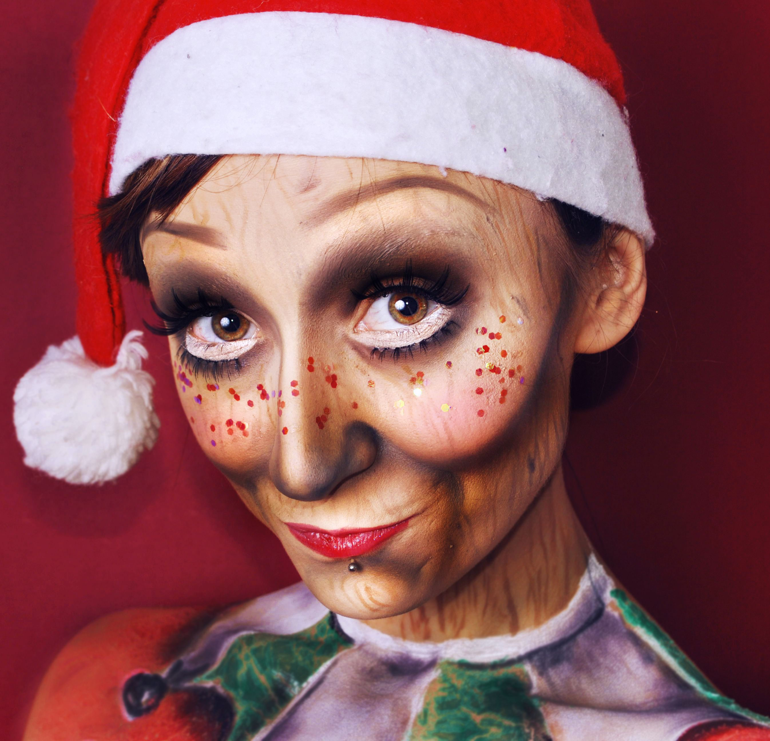 Check out our favorite Christmas elf inspired makeup look