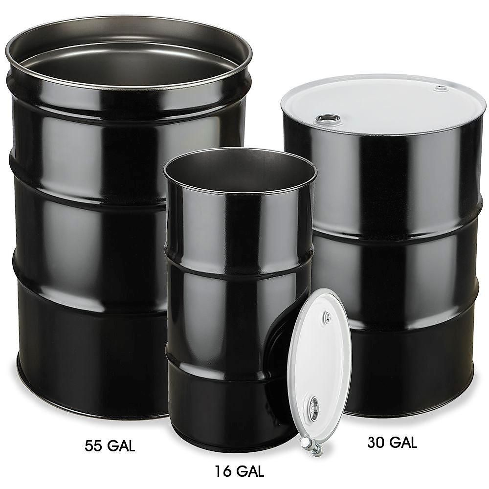 Steel Drum With Lid 16 Gallon Open Top Unlined New 138 Min Of 4 55 Gallon Steel Drum Steel Drum Metal Drum