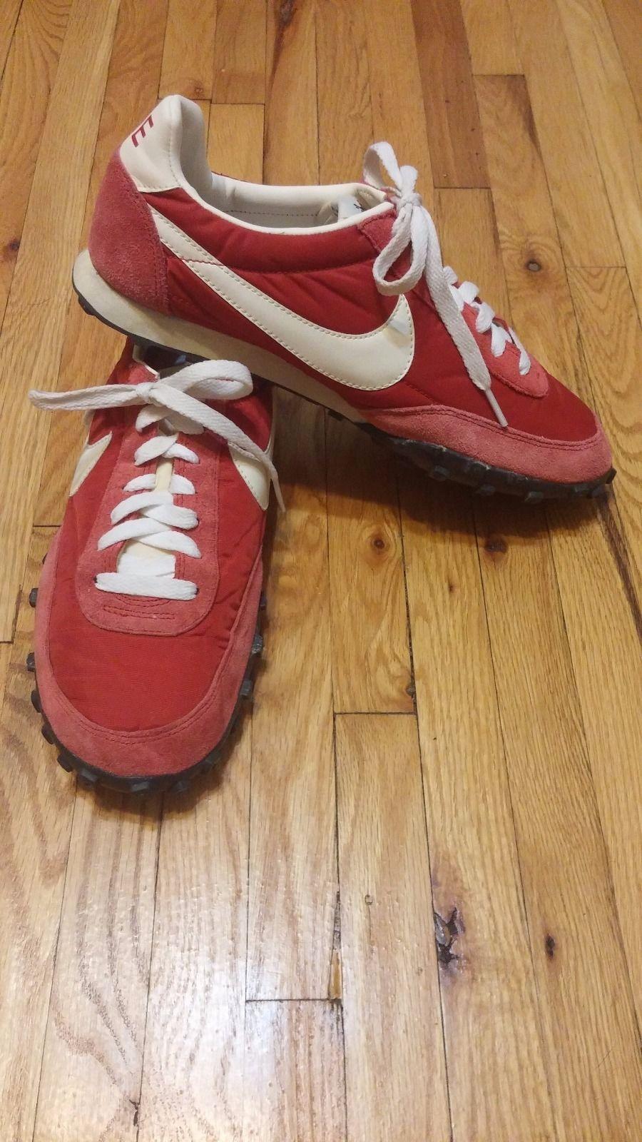 pretty nice 51da9 0b411 J Crew Nike Vintage Red Waffle Racers Size 9   eBay