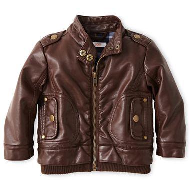 Baby bomber jacket! (Joe Fresh™ Faux Leather Jacket)  b7636fe0db91