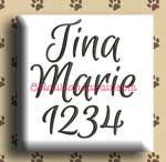 Tina Marie Embroidery Design Alphabet by 8Clawsandapaw.com