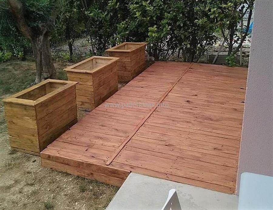 60 DIY Ideas For Wood Pallet Garden Terrace | Wood pallets ...