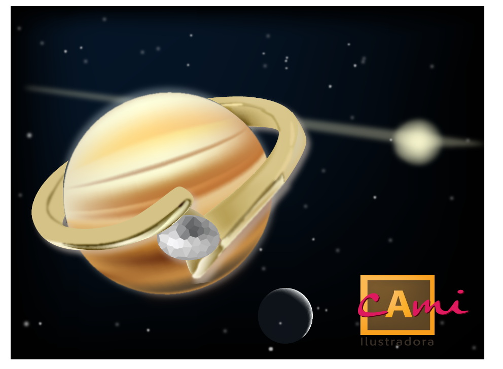 Planeta con anillos