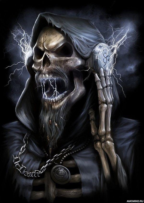 Открытки видео, картинки с черепами и скелетами