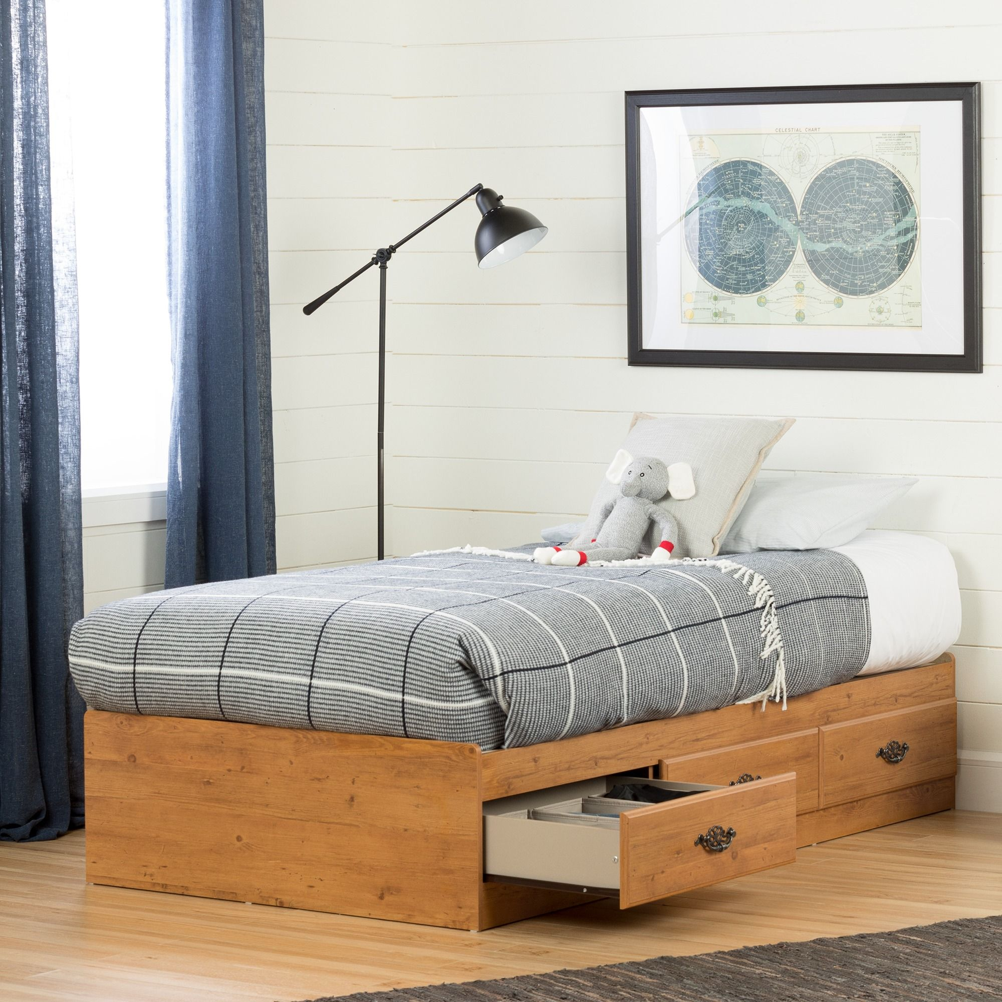 South Shore Prairie 3 Drawer Storage Bed Twin Country Pine Diy