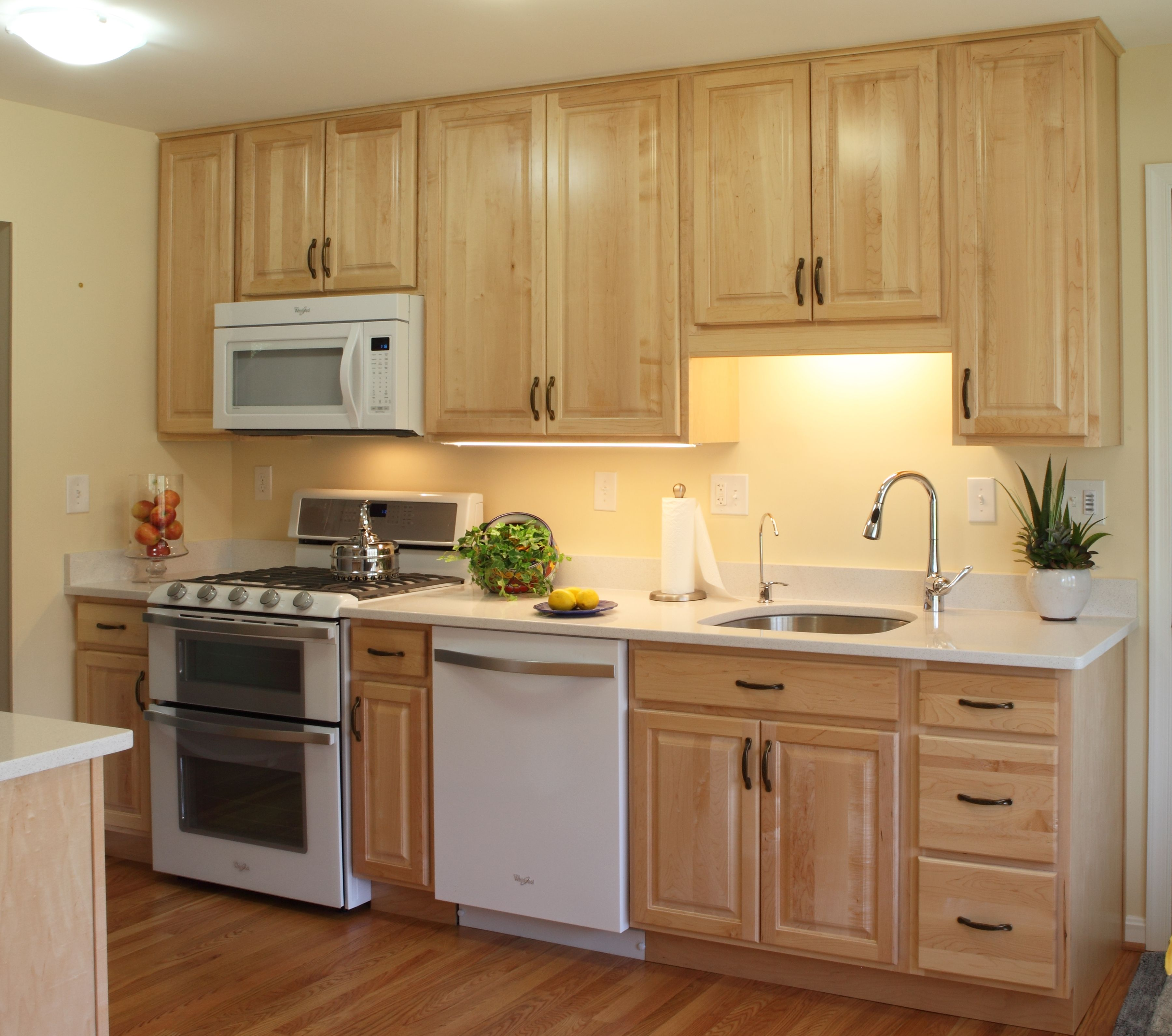 Derwood, MD kitchen renovation with full height natural ... on Natural Maple Cabinets With Quartz Countertops  id=44754