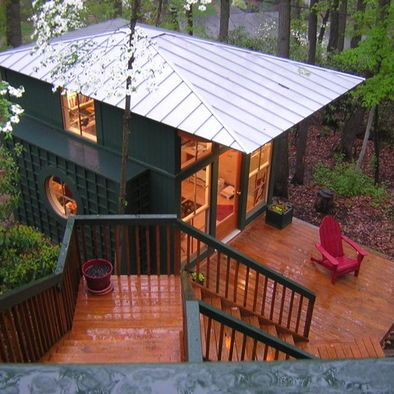 Like The Metal Hip Roof With Overhang For Porch