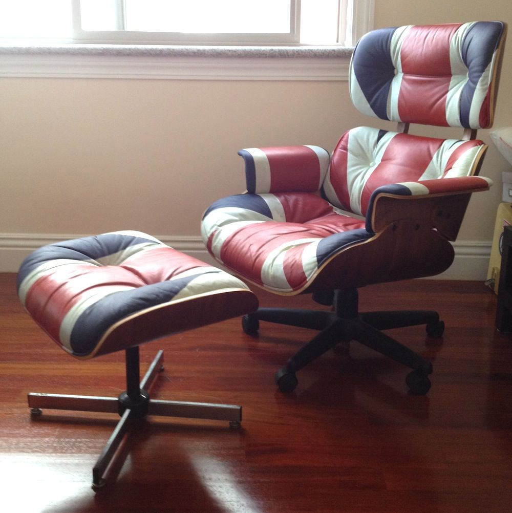Labexperiment   Custom Painted Union Jack Eames Lounge Chair
