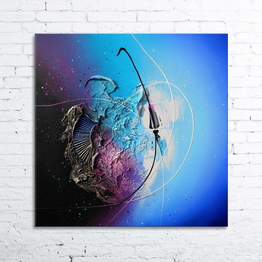 75 Grande Peinture Abstract Original Sur Toile Contemporaine Art Moderne Moderne Noir Blanc Bleu Gris Decor Mural Xl Peinture Ab07li3 Canvas Art Canvas Painting Abstract Painting