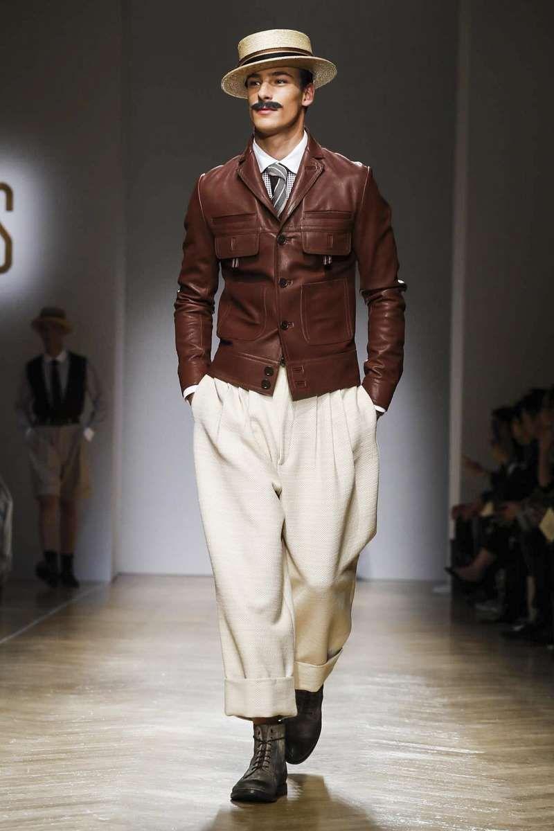 Fashion week Mens daks spring runway for lady