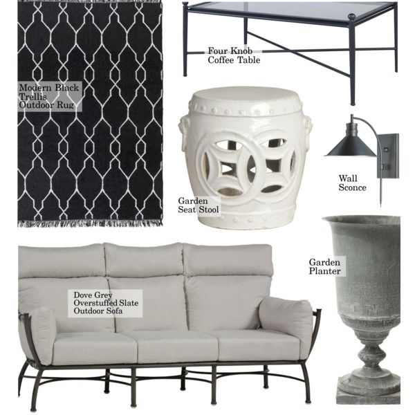 Outdoor Decor by kathykuohome on Polyvore featuring interior ...