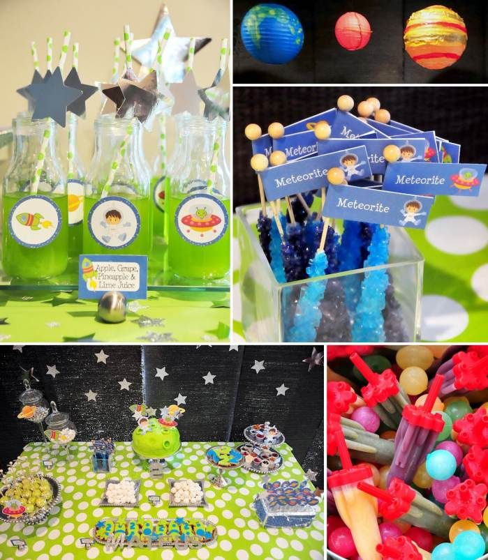 Astronaut Themed Birthday Party Planning Ideas Cake Decor