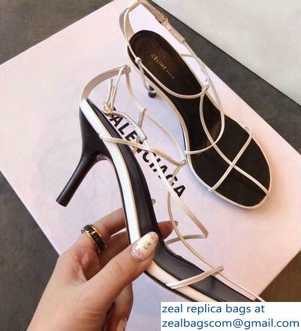 Multistraps Shoes Sandals White Nude 2018Luxury Celine Round Toe rBoCxde