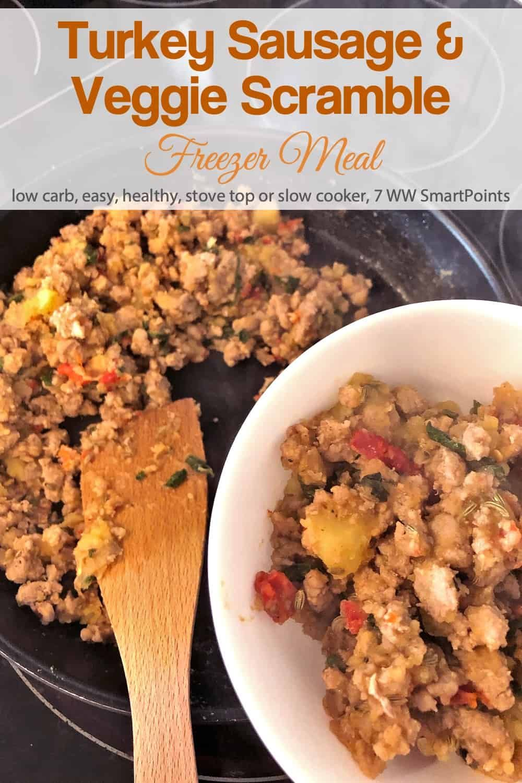 Ground Turkey \u0026 Veggie Breakfast Scramble Freezer Meal