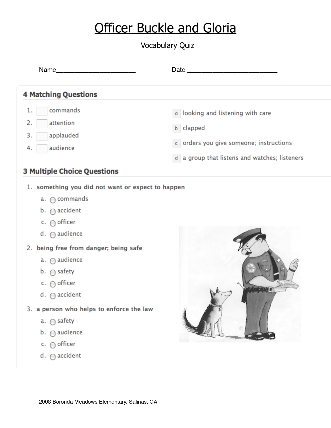 worksheet Officer Buckle And Gloria Worksheets officerbuckleandgloria google search common core anchor chart free officer buckle gloria coloring pages