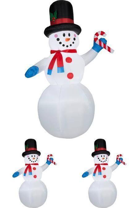 Xmas Snowman Air Blown Inflatable 7 Ft Tall Outdoor Christmas - outdoor snowman christmas decorations