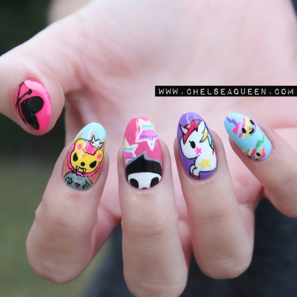 Tokidoki www.chelseaqueen.com #nail #nails #nailart