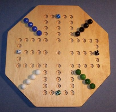 "Marble Game With Wooden Board Wooden Marble Game Board  Aggravation  18""octagonmapleoiled  4"