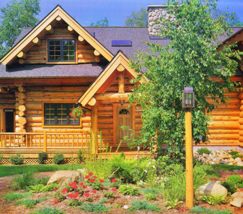 Exterior - Quality Log Cabins and Timber Frame Houses from