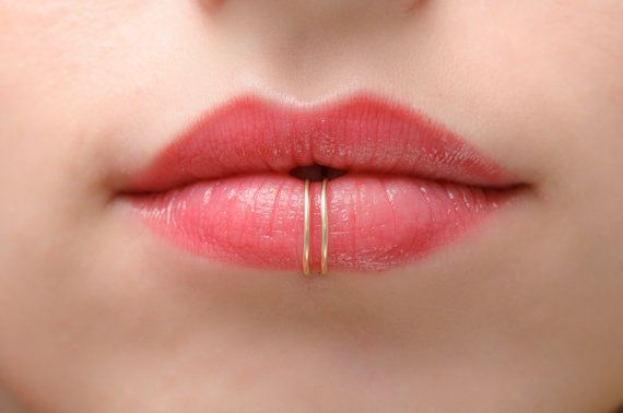 Faux lip ring double lip ring fake lip cuff fake by - Lippenpiercing ring ...
