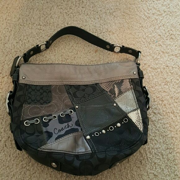 Coach Patchwork Purse Beautiful design. Hardly used. In perfect condition. Coach Bags Shoulder Bags