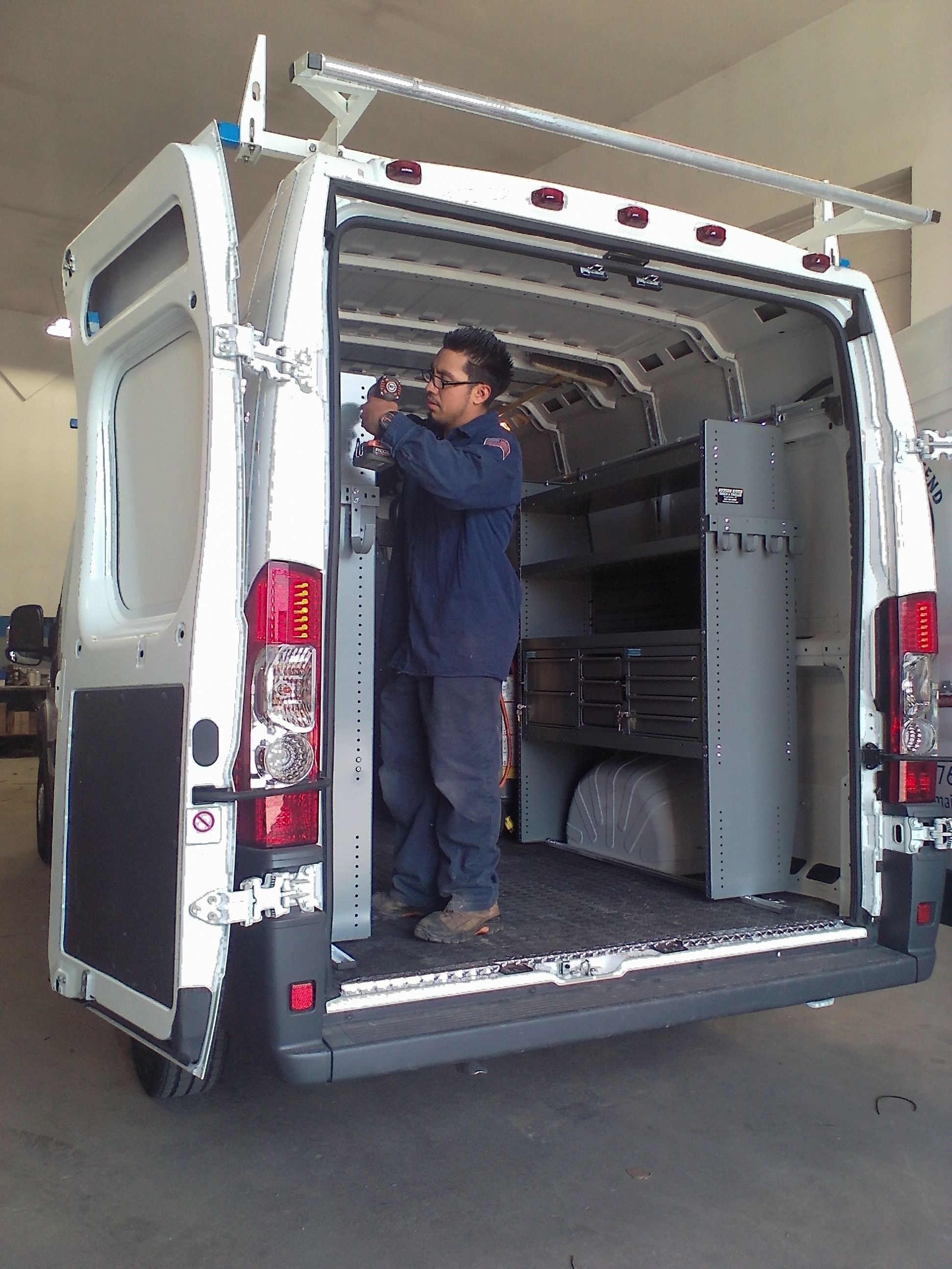 Commercial Van Interiors >> Finishing Off Another Ram Pro Master With A Customized