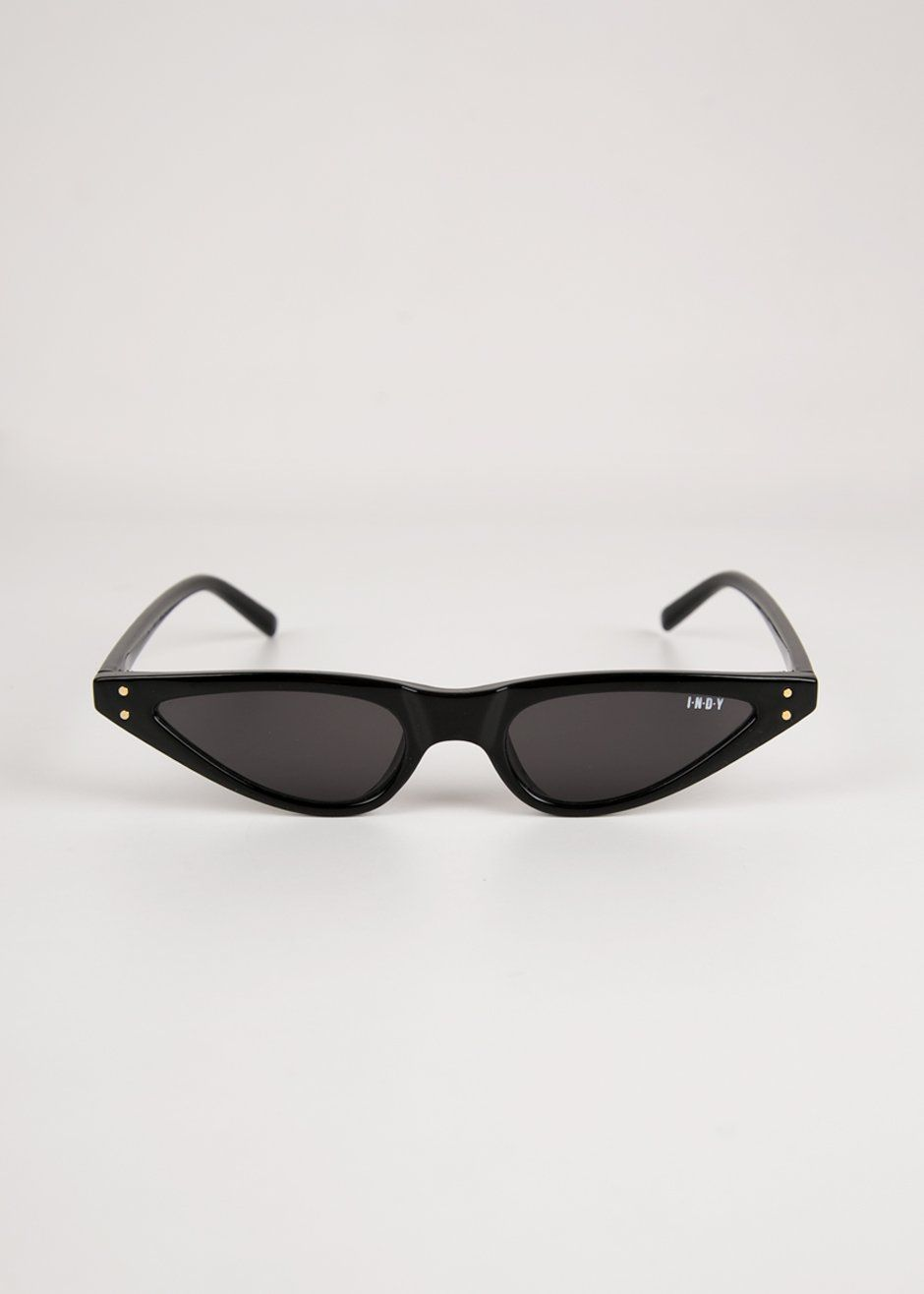 3836a595614  newarrivals  indy  mia  black  sunglasses  cateye  accessories   thefrankieshop  frankienyc  frankiegirl 90 s Matrix Ultra-Skinny Cat-Eye  Sunglasses Color- ...