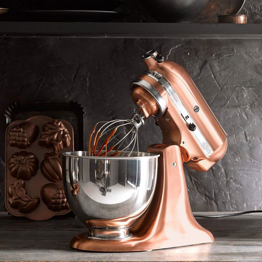 15 Mouthwatering Gifts For Food Lovers Copper Kitchen Aid Rose Gold Kitchen Gold Kitchen