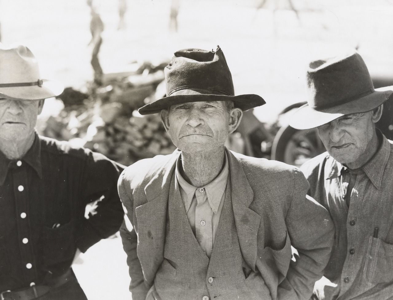 Ex-Tenant Farmer on Relief Grant (Lange, Dorothea. Ex-Tenant Farmer on Relief Grant in the Imperial Valley, California. 1937. Museum of Modern Art, New York. N.p.: n.p., n.d. N. pag. The Collection. Web. 4 Oct. 2015.)