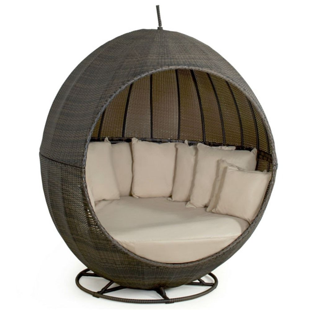Pearl Daybed Outdoor Maze Rattan Apple Day Bed Internet Gardener Outdoor Cosy