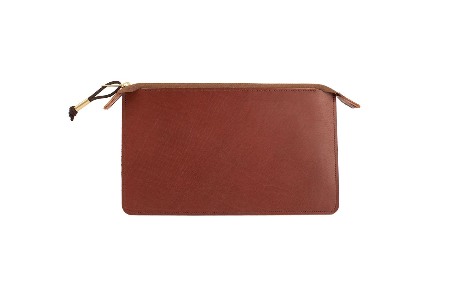 Leather Clutch in Brown by Joshu+Vela